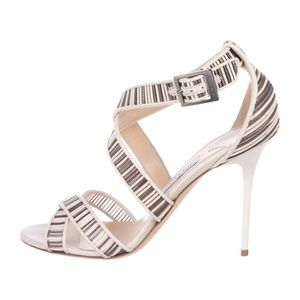 JIMMY CHOO - Leather Multistrap Sandals